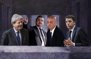 carlo calenda, pd, cena pd, partito democratico, renzi, orfini, gentiloni, minniti, salvimaio